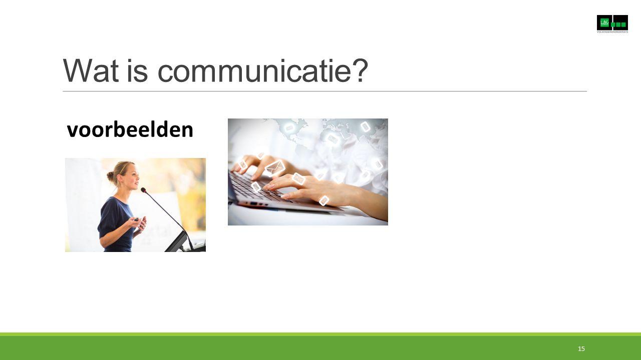 Wat is communicatie? voorbeelden 15