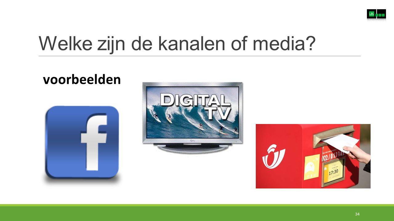 Welke zijn de kanalen of media? voorbeelden 34
