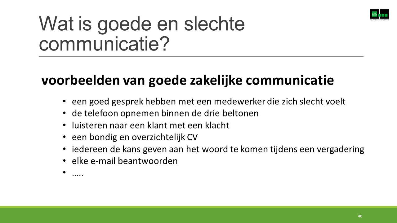 Wat is goede en slechte communicatie? voorbeelden van goede zakelijke communicatie een goed gesprek hebben met een medewerker die zich slecht voelt de