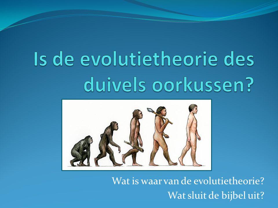 Wat is waar van de evolutietheorie? Wat sluit de bijbel uit?