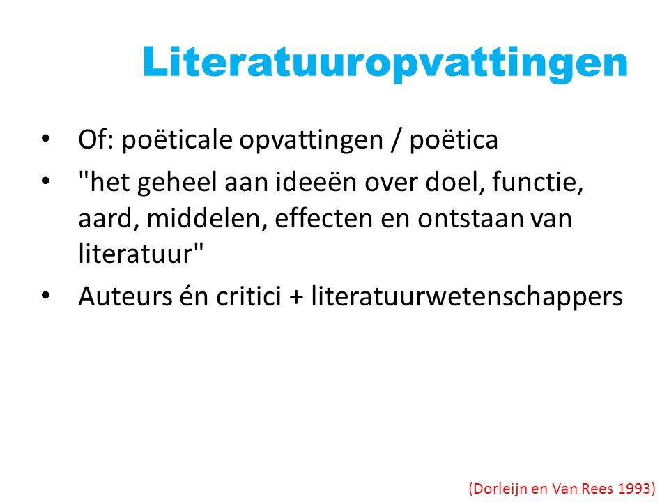 Literatuuropvattingen Of: poëticale opvattingen / poëtica