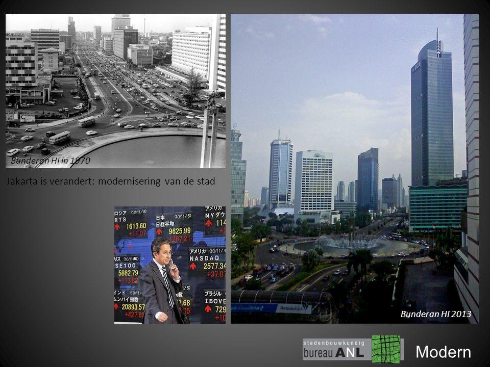 Modern Bunderan HI 2013 Jakarta is verandert: modernisering van de stad Bunderan HI in 1970