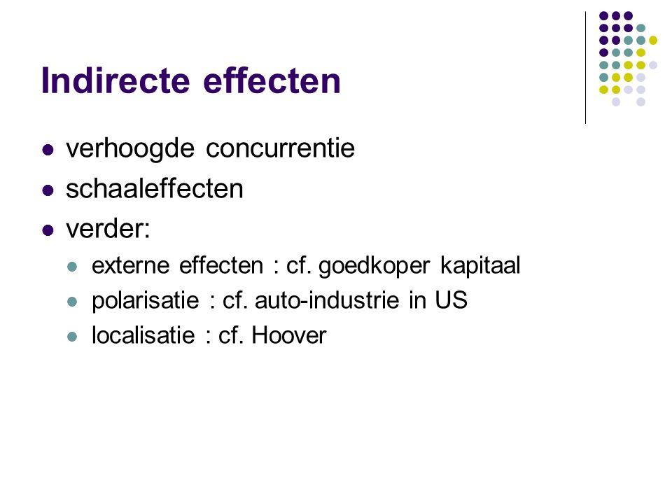 Ruilvoeteffect 'KOE' : tarief geen invloed op ruilvoet Grote economieën: tarief oefent wel invloed uit op de ruilvoet + sterkere onderhandelingspositi