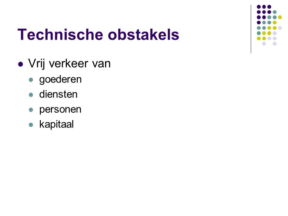Materiële obstakels personenverkeer openbare veiligheid Schengenakkoord : SIS goederenverkeer wegvervoervergunningen veterinaire en gezondheidsvoorsch