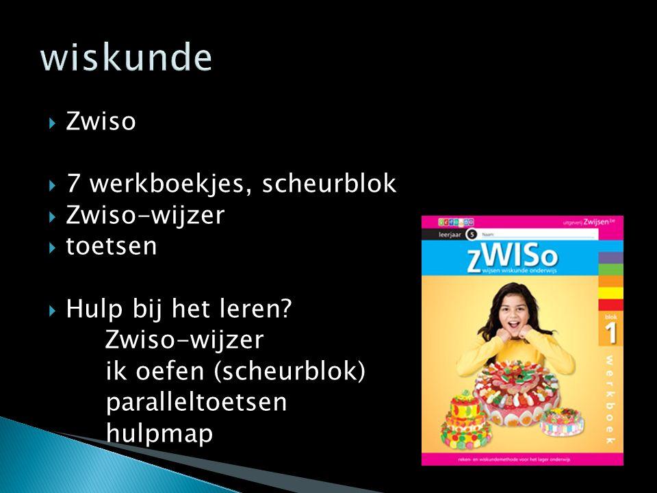  Zwiso  7 werkboekjes, scheurblok  Zwiso-wijzer  toetsen  Hulp bij het leren? Zwiso-wijzer ik oefen (scheurblok) paralleltoetsen hulpmap