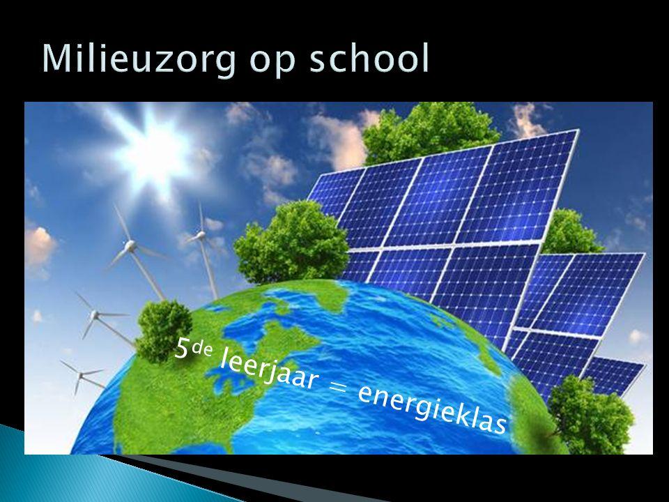5 de leerjaar = energieklas