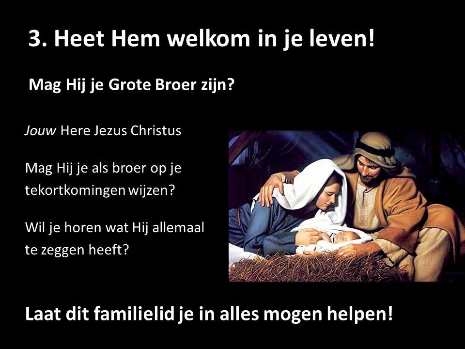 Jouw Here Jezus Christus Mag Hij je als broer op je tekortkomingen wijzen? Wil je horen wat Hij allemaal te zeggen heeft? Mag Hij je Grote Broer zijn?