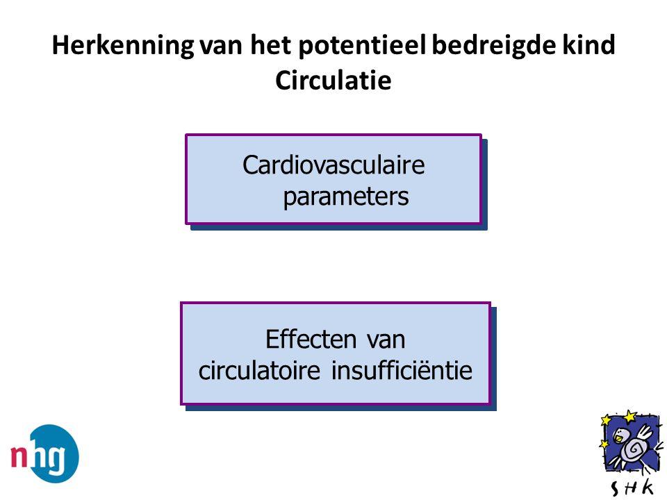Herkenning van het potentieel bedreigde kind Circulatie Cardiovasculaire parameters Effecten van circulatoire insufficiëntie Effecten van circulatoire