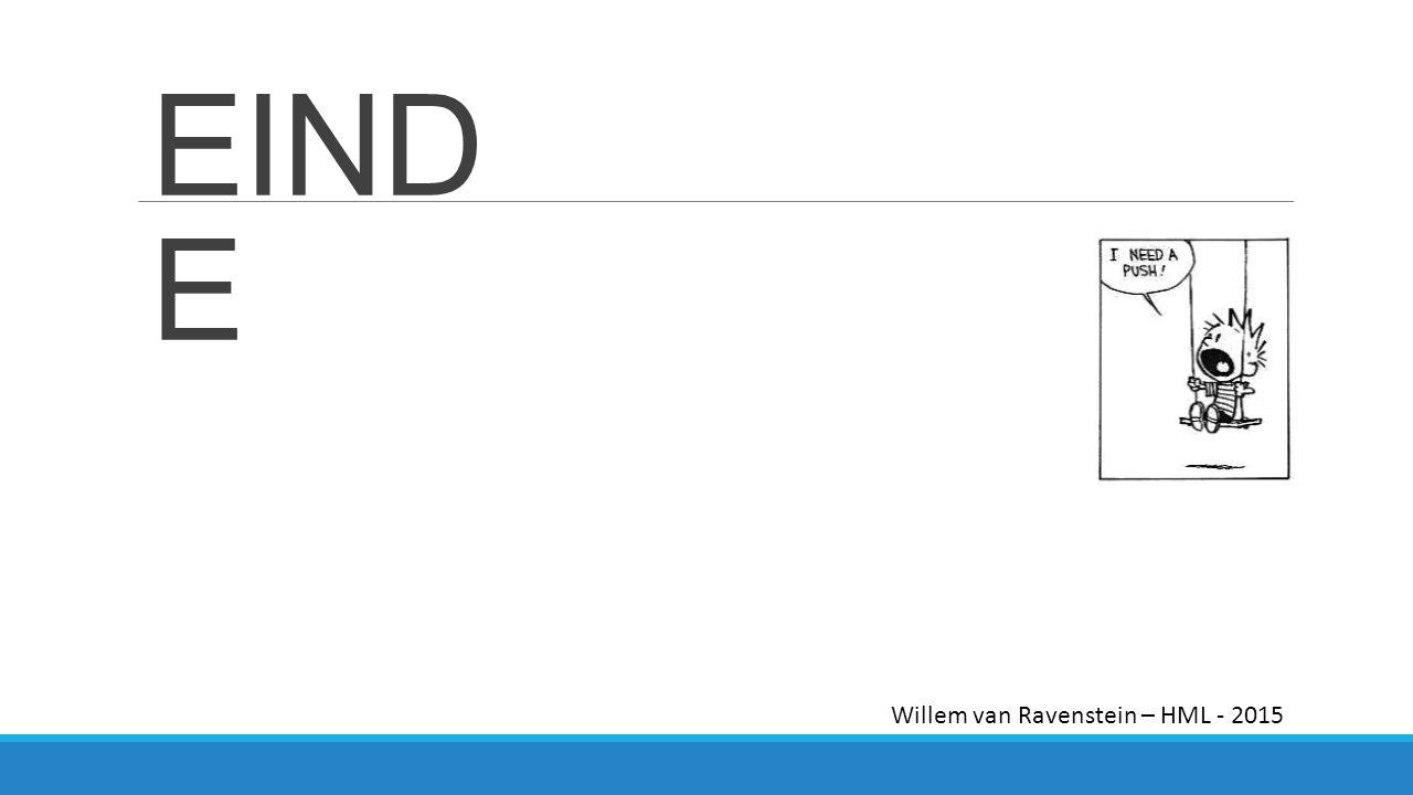 EIND E Willem van Ravenstein – HML - 2015