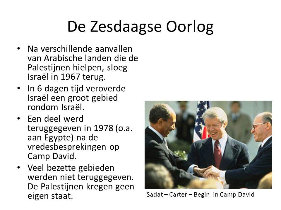 De Zesdaagse Oorlog Na verschillende aanvallen van Arabische landen die de Palestijnen hielpen, sloeg Israël in 1967 terug.