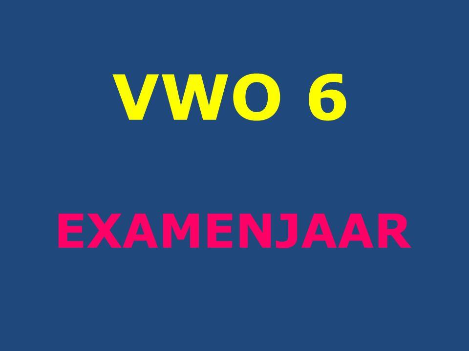 VWO 6 EXAMENJAAR