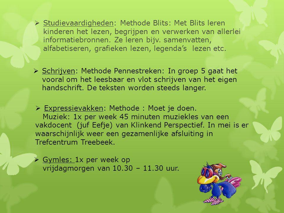  Studievaardigheden: Methode Blits: Met Blits leren kinderen het lezen, begrijpen en verwerken van allerlei informatiebronnen.