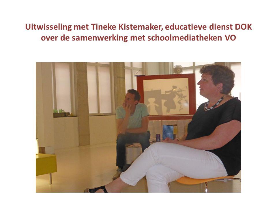 Uitwisseling met Tineke Kistemaker, educatieve dienst DOK over de samenwerking met schoolmediatheken VO