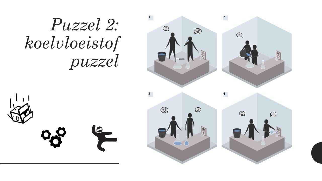 Puzzel 2: koelvloeistof puzzel