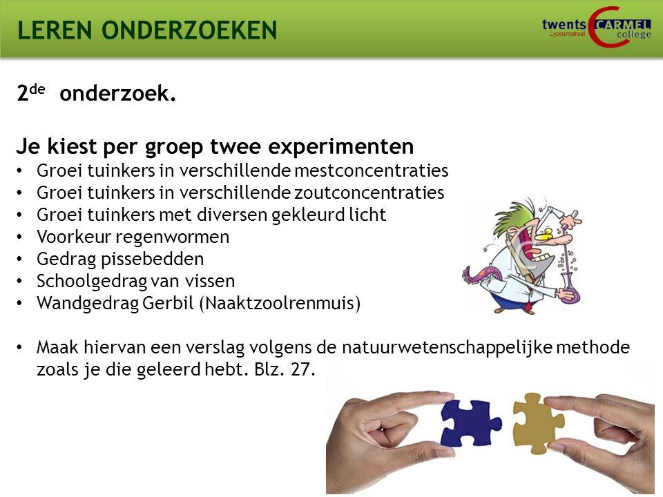 © 2009 Biosoft TCC - Lyceumstraat LEREN ONDERZOEKEN 2 de onderzoek.