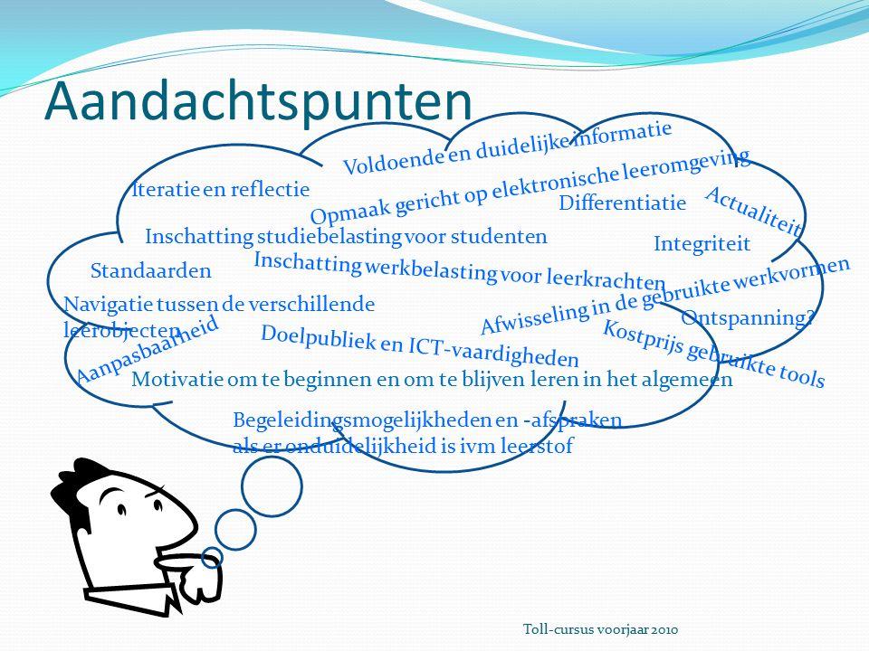 Differentiatie De leerstof kan aangepast worden aan de noden van de studenten.
