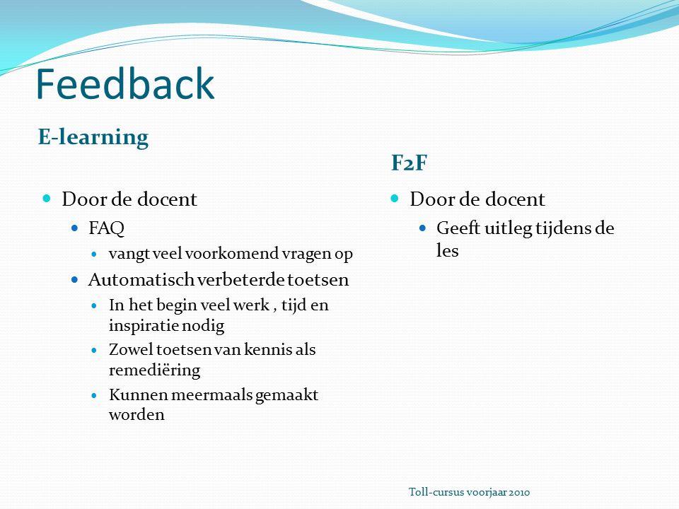 Emoties E-learning F2F Welke emoties van de cursist zijn er mogelijk.