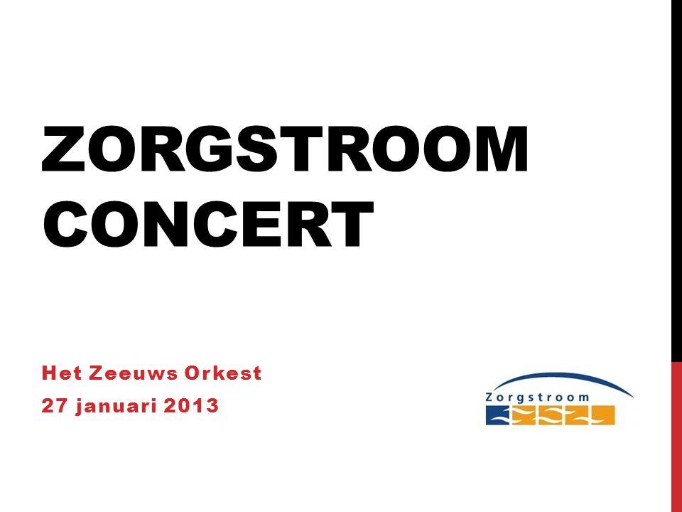 ZORGSTROOM CONCERT Het Zeeuws Orkest 27 januari 2013