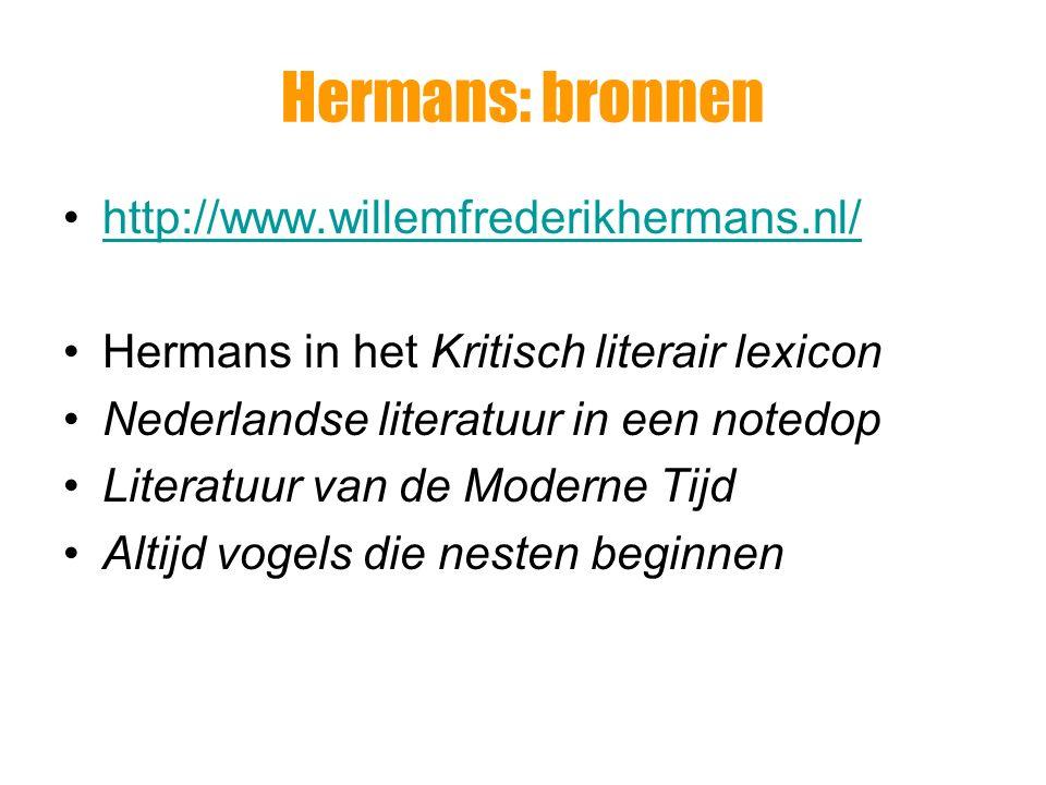 Hermans: de grote drie Harry Mulisch Gerard Reve Willem Frederik Hermans