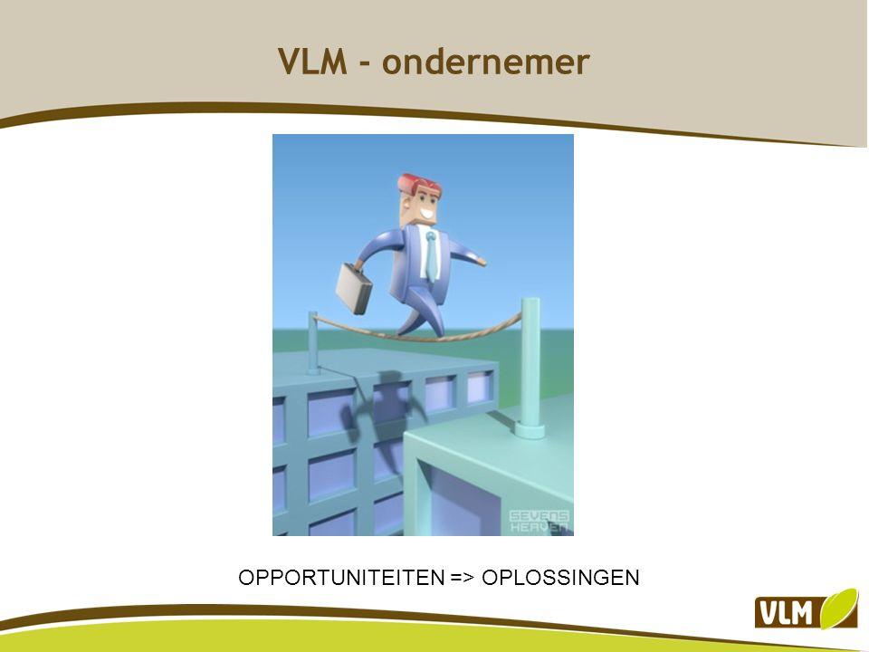 VLM - ondernemer OPPORTUNITEITEN => OPLOSSINGEN