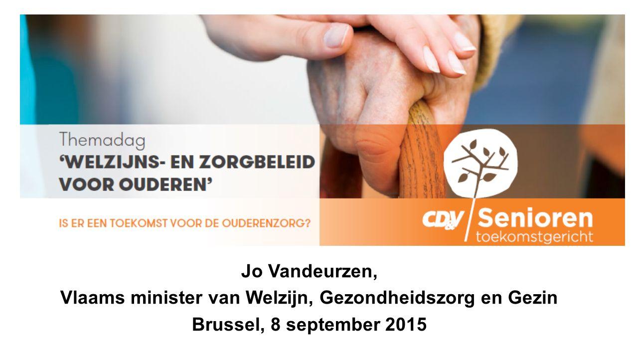Jo Vandeurzen, Vlaams minister van Welzijn, Gezondheidszorg en Gezin Brussel, 8 september 2015