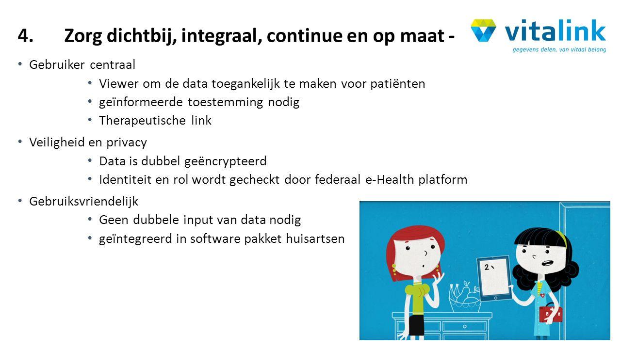 4.Zorg dichtbij, integraal, continue en op maat - Gebruiker centraal Viewer om de data toegankelijk te maken voor patiënten geïnformeerde toestemming