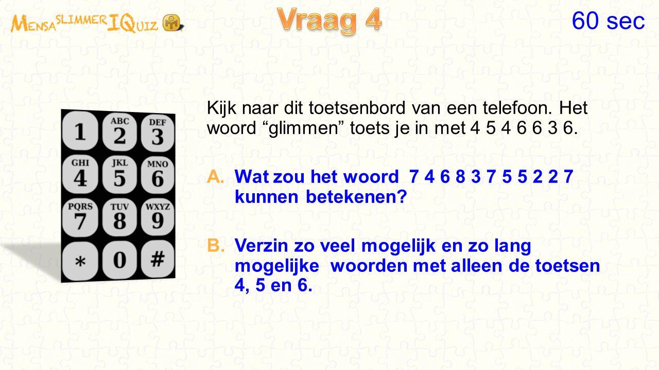 Kijk naar dit toetsenbord van een telefoon.Het woord glimmen toets je in met 4 5 4 6 6 3 6.