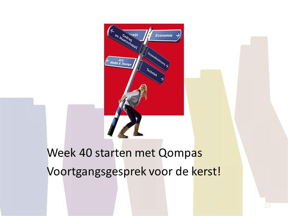 Week 40 starten met Qompas Voortgangsgesprek voor de kerst! 23