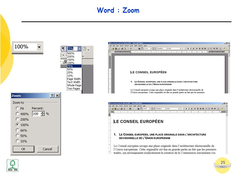 25 Word : Zoom