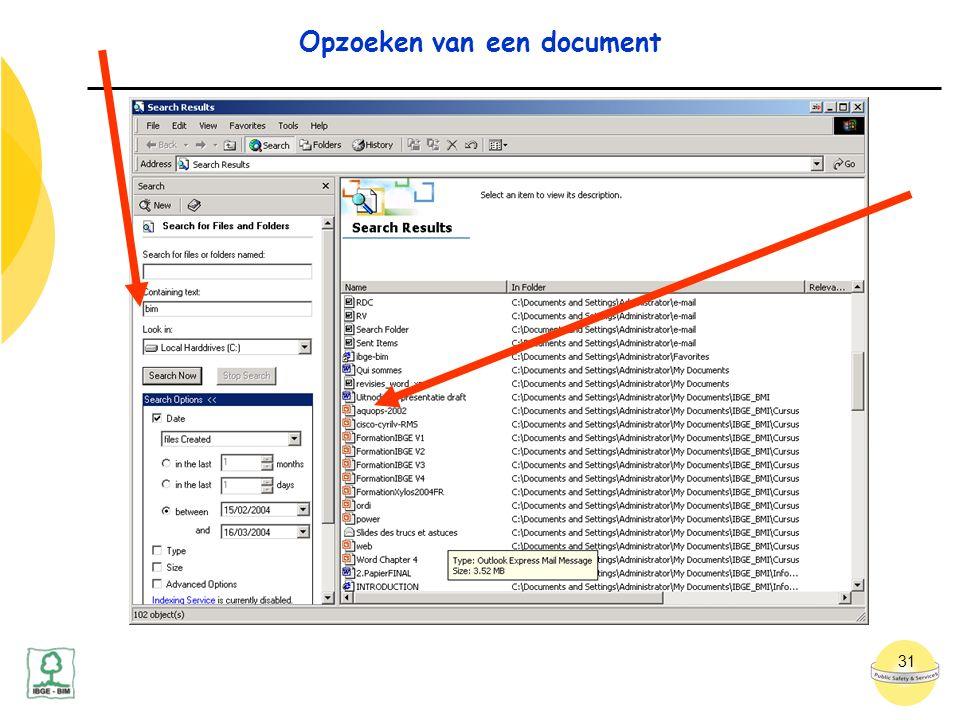 31 Opzoeken van een document