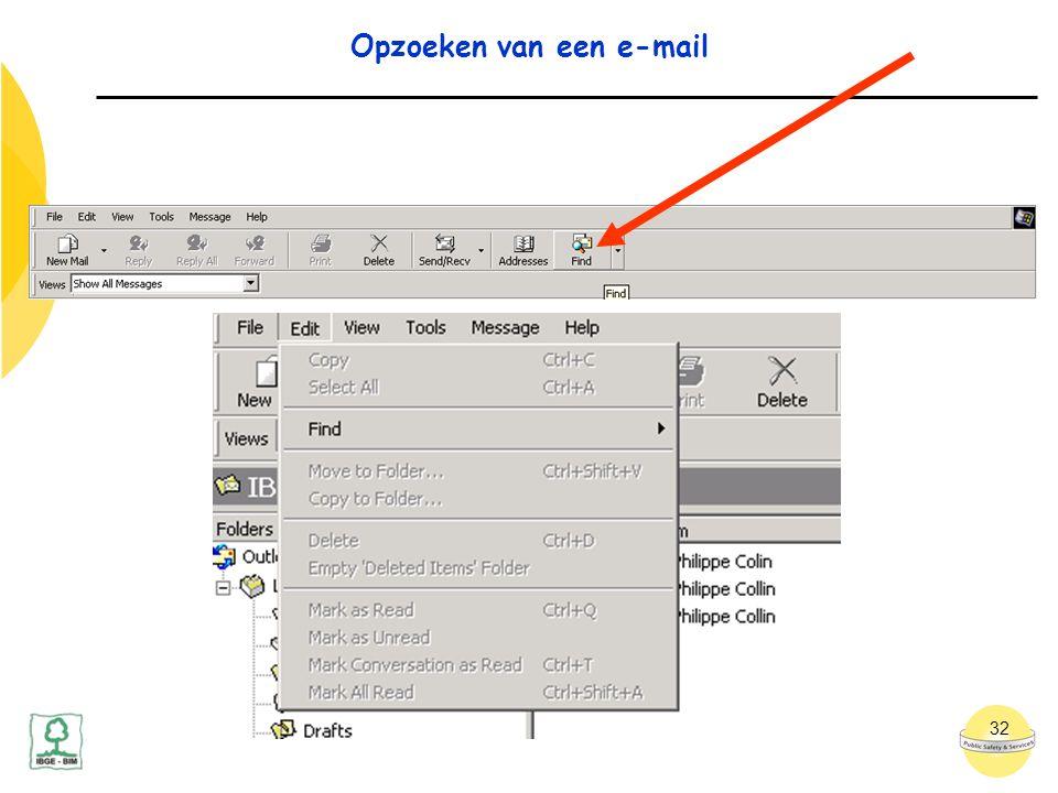 32 Opzoeken van een e-mail