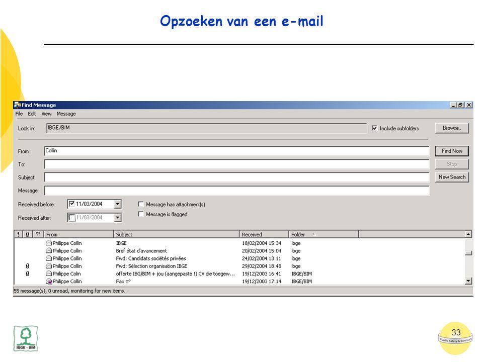 33 Opzoeken van een e-mail