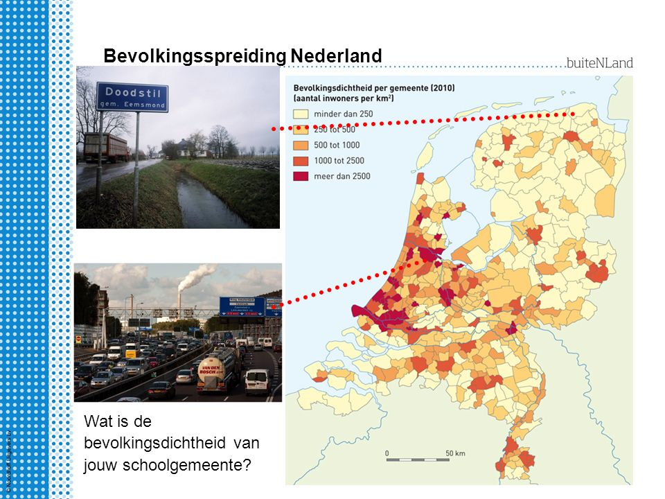 Bevolkingsspreiding Nederland Nederland - stedenland Bijna 9 op de 10 Nederlanders woont in een stad.