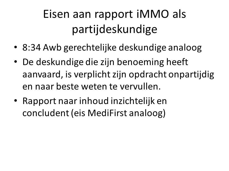 Vragen die iMMO moet beantwoorden 1) Kan (kon) er gehoord worden.
