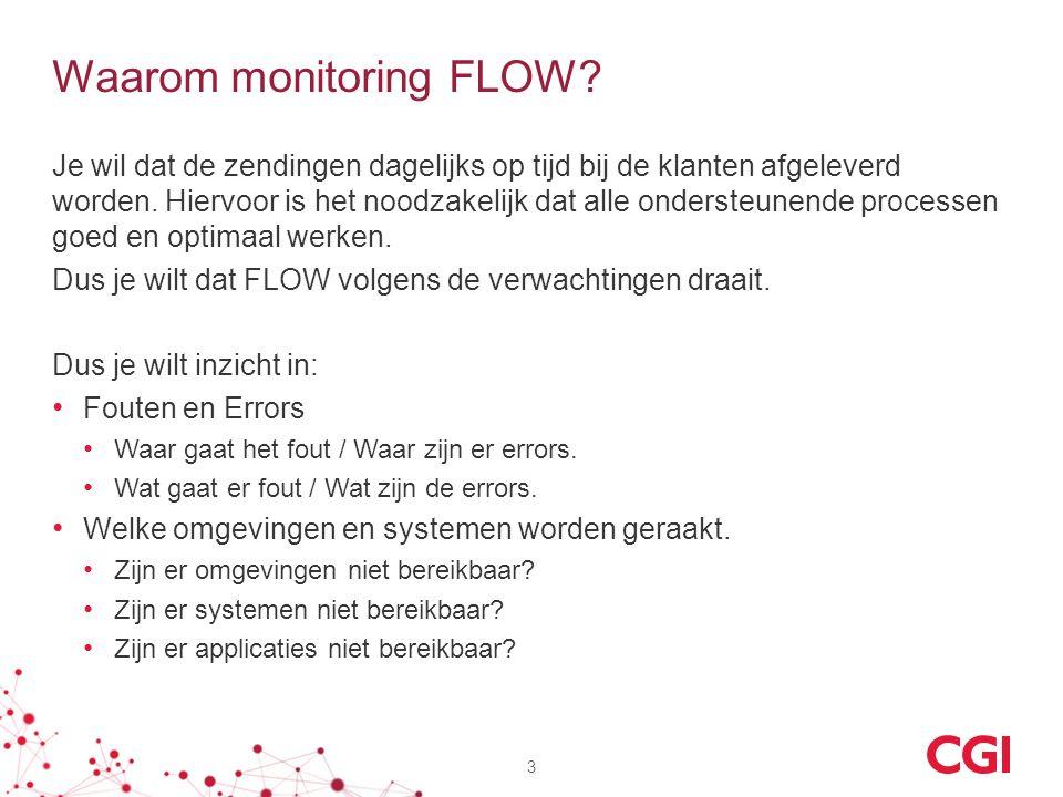 Waarom monitoring FLOW. Je wil dat de zendingen dagelijks op tijd bij de klanten afgeleverd worden.