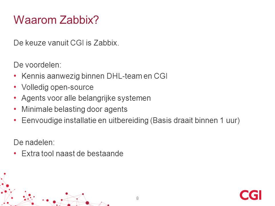 Waarom Zabbix. De keuze vanuit CGI is Zabbix.