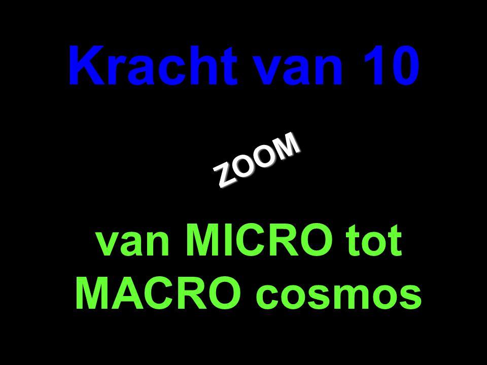 . ZOOM ZOOM Kracht van 10 van MICRO tot MACRO cosmos