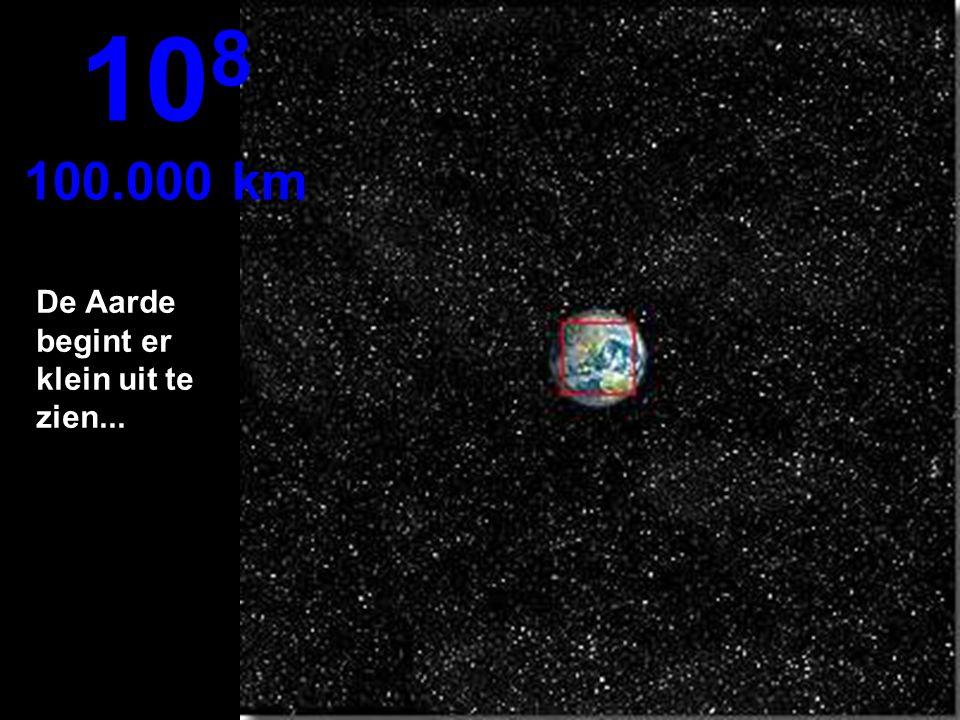 De noordelijke helft van de Aarde, een deel van Zuid Amerika 10 7 10.000 km
