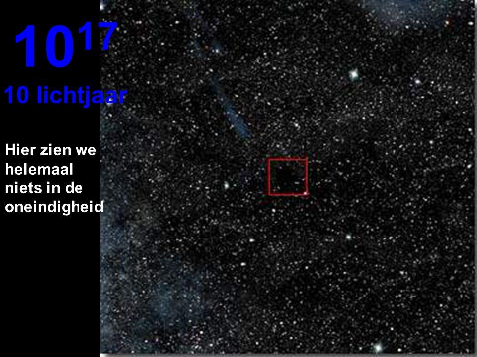Op 1 lichtjaar ver is de ster Zon heel erg klein 10 16 1 lichtjaar