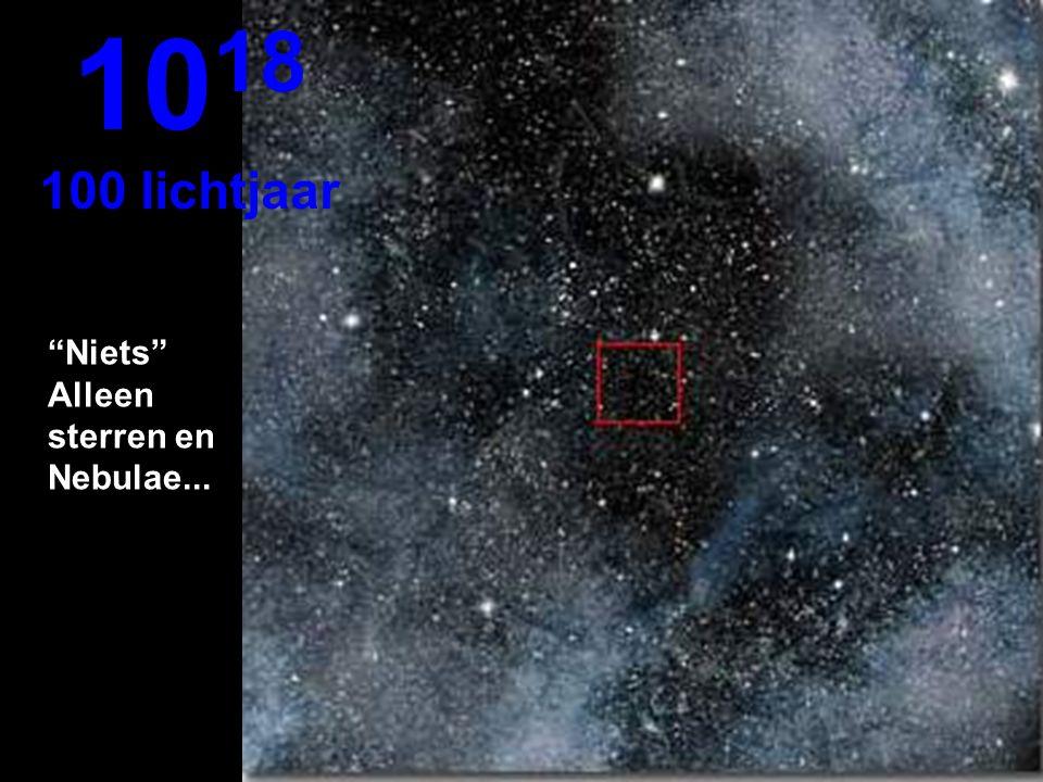 Hier zien we helemaal niets in de oneindigheid 10 17 10 lichtjaar