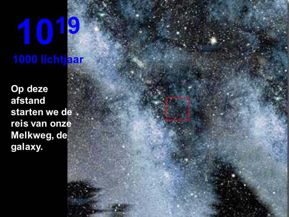"""""""Niets"""" Alleen sterren en Nebulae... 10 18 100 lichtjaar"""