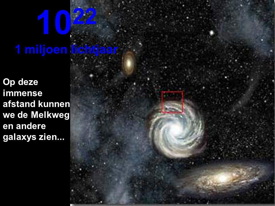 We bereiken hier de buitenkant van de Melkweg 10 21 100.000 lichtjaar