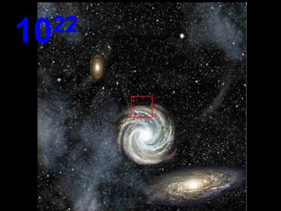 Van deze afstand lijken alle galaxys klein met immense lege ruimtes er tussen Overal in het Universum gelden dezelfde regels. We kunnen nog naar boven