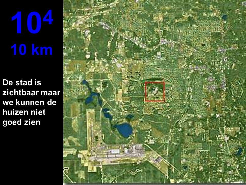 We gaan van meters naar kilometers.. Nu is het mogelijk om met een parachute te springen... 10 3 1 km