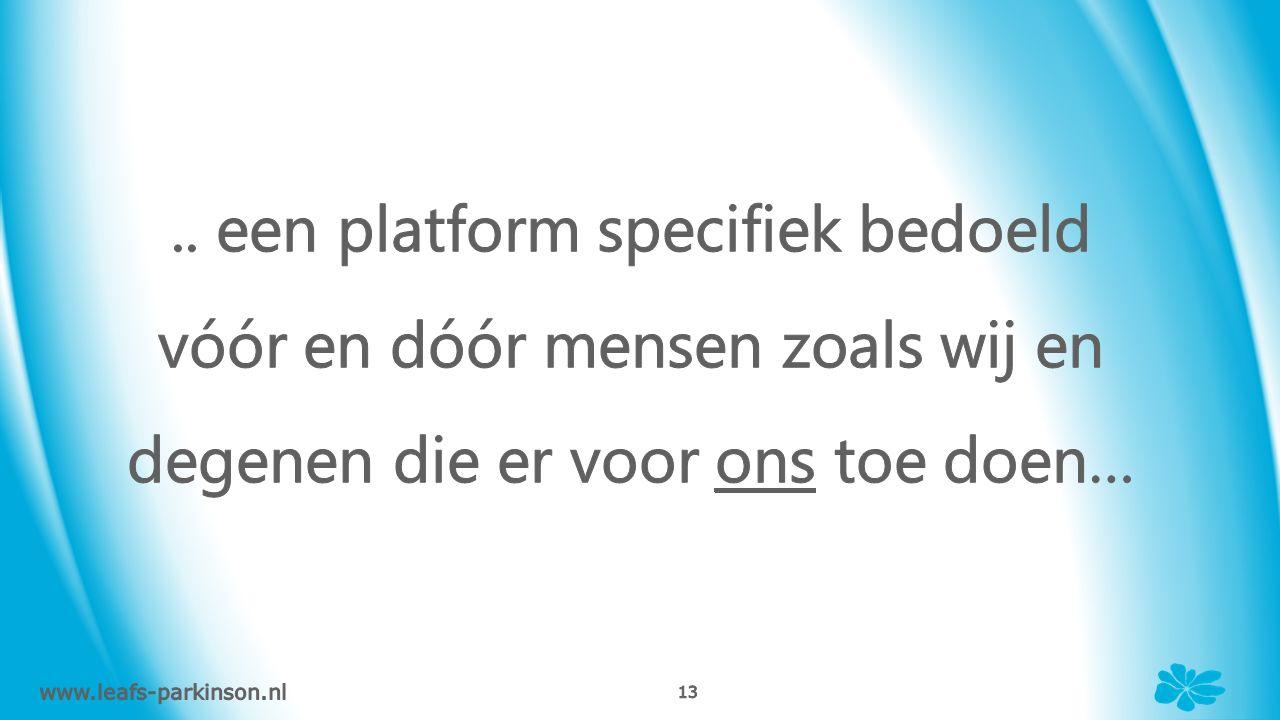 www.leafs-parkinson.nl 12