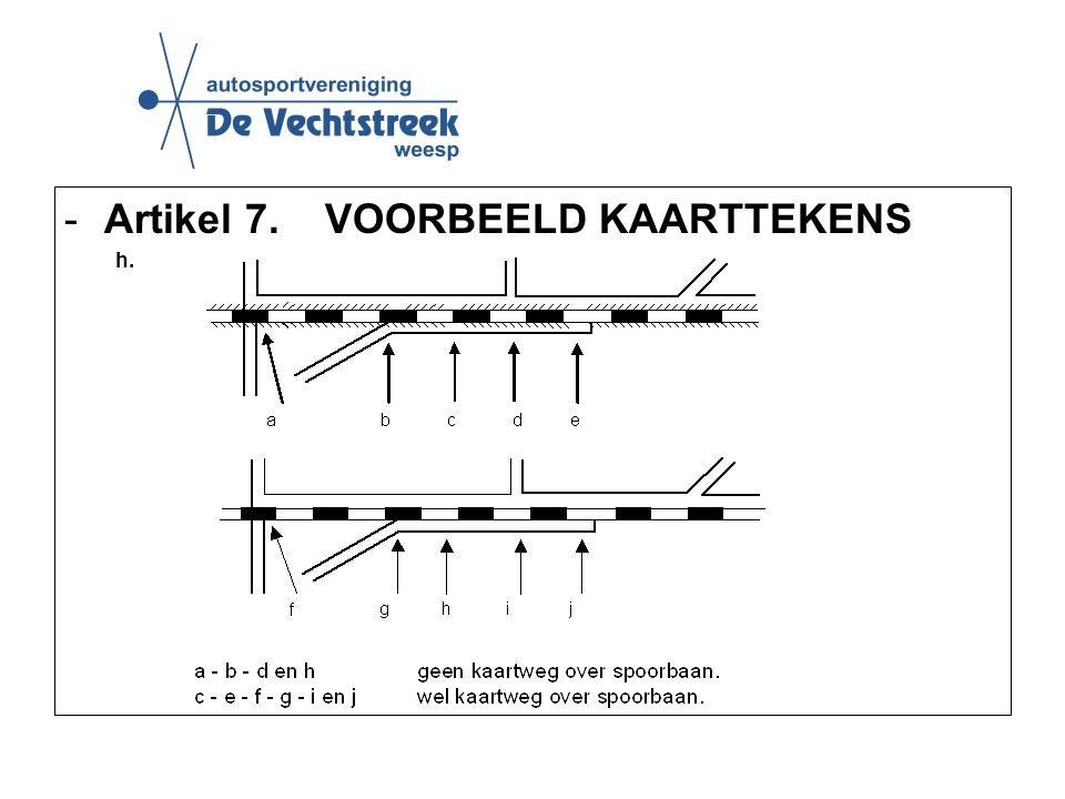 -Artikel 7. VOORBEELD KAARTTEKENS h.