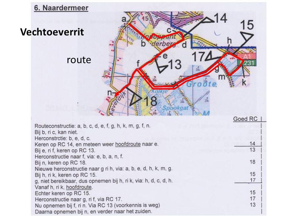 17 Vechtoeverrit route