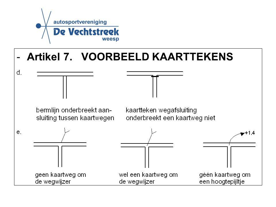 -Artikel 7. VOORBEELD KAARTTEKENS