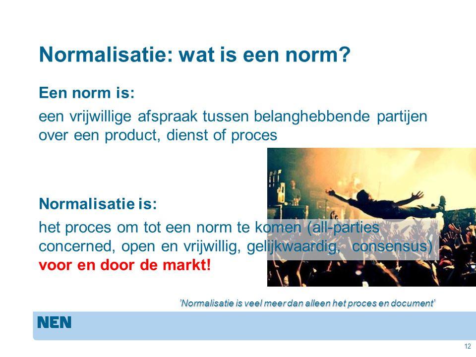 12 Normalisatie: wat is een norm.