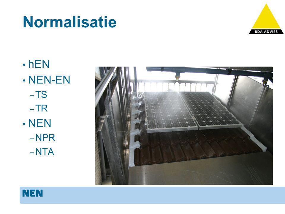 Normalisatie Beoordeling/testen systemen – Wind – Water – PV